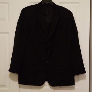 Men's Haggar Black Suit Jacket EUC